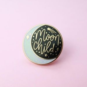 {5/$25} Moon child sparkle enamel pin